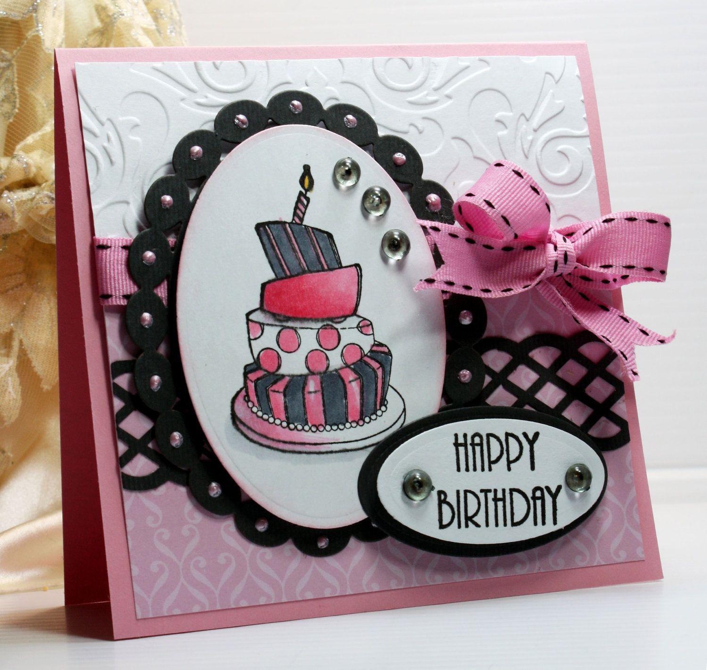 Happy Birthday Card Greeting Card Handmade Card