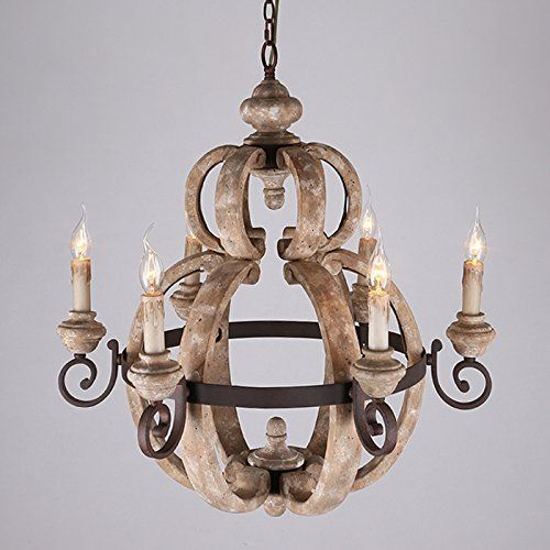 A B Home Perth Wooden Chandelier 12 6 X 20 9 Inch
