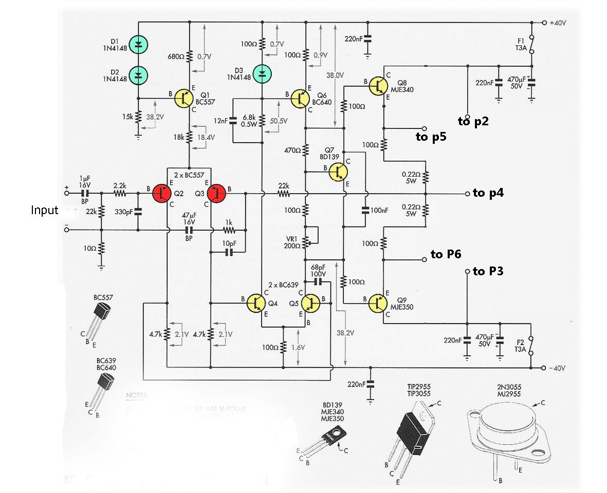 Driver Power Amplifier Circuit For 2n And Mj