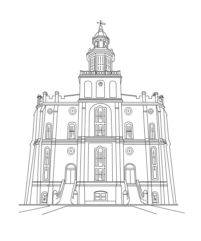 free lds clipart to color for primary children  st george