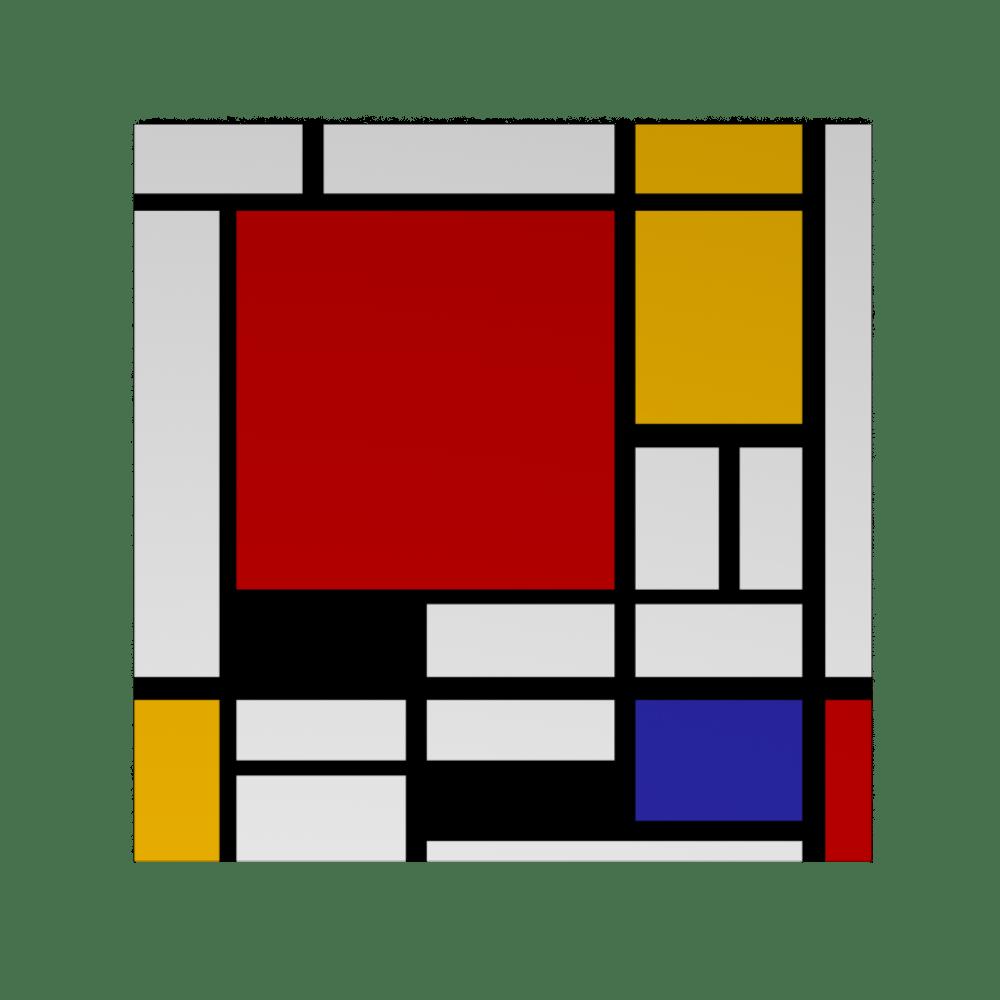 Piet Mondrian Samenstelling Met Rode Blauw en Geel Piet