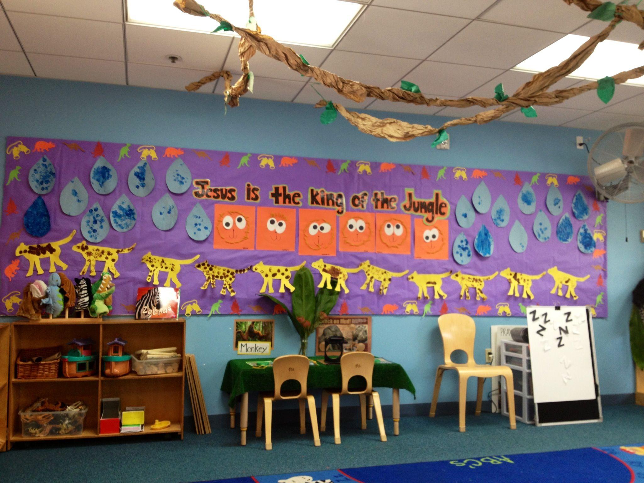 Preschool Jungle Theme Cork Painting Cheetahs Spiral Pasta Lions Cork Painted Rain Drops Noah S