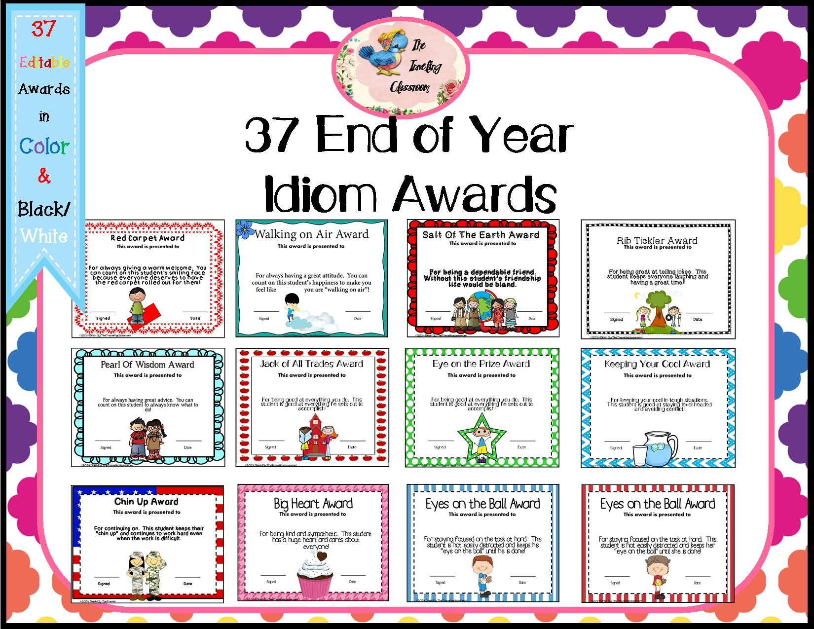 Included Are 37 Unique End Of The Year Certificates Your