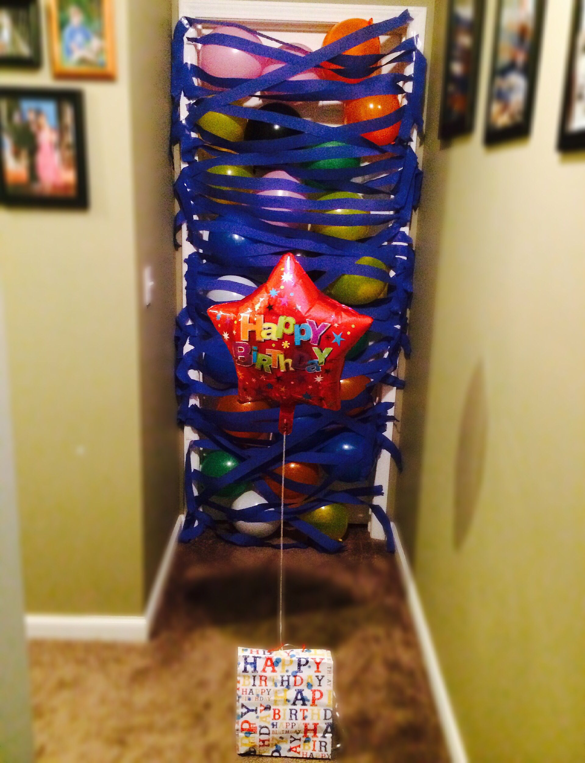 A balloon avalanche as a birthday morning surprise. I did