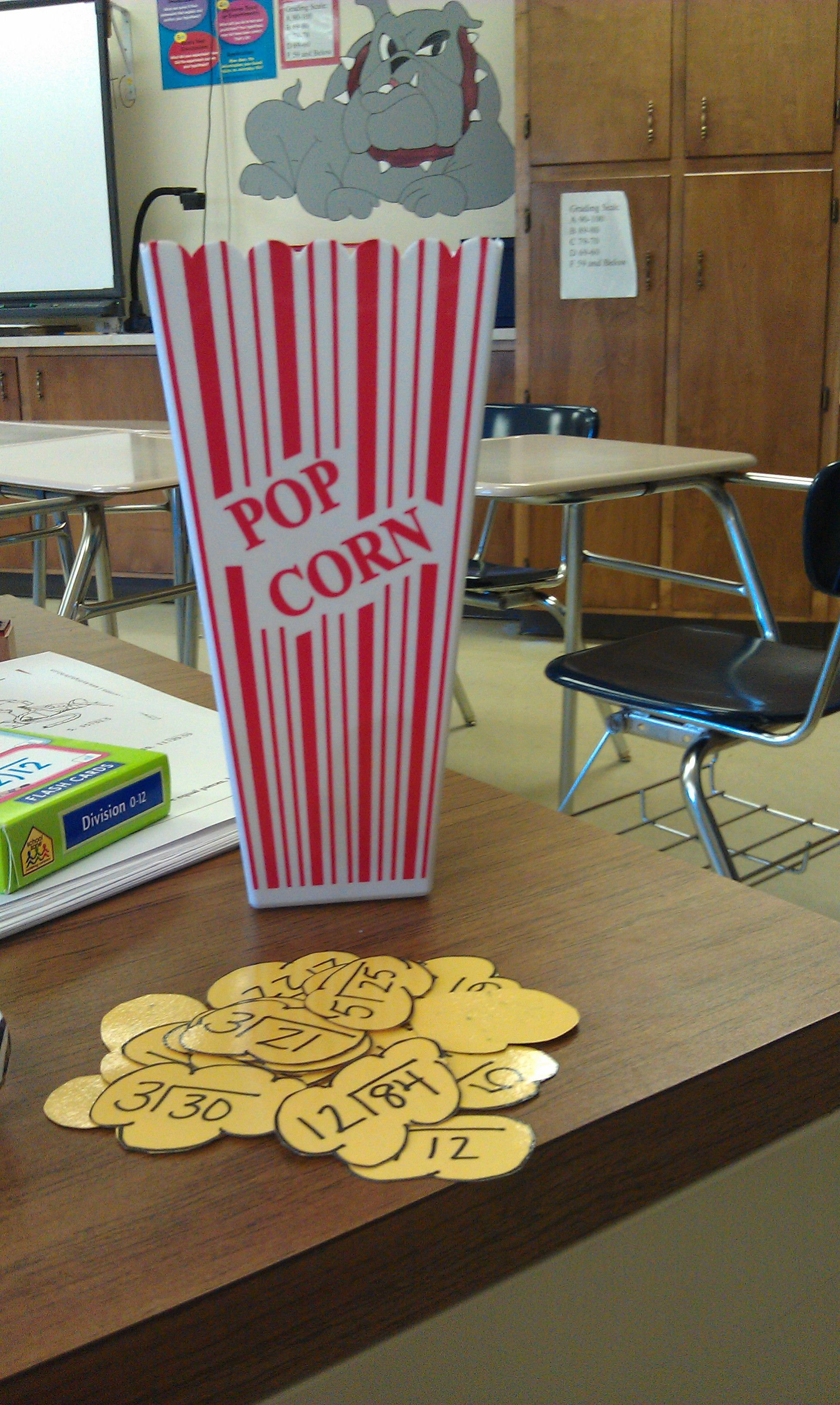 Popcorn Game Facts Are On Yellow Laminated Construction