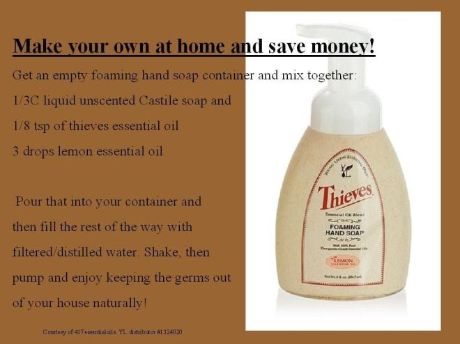 Homemade thieves foaming hand soap recipe wwwfacebook