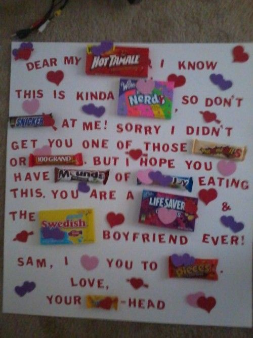 Candy Card Boyfriend On Pinterest Alcohol Basket Boyfriend Gift Ideas And Candy Cards