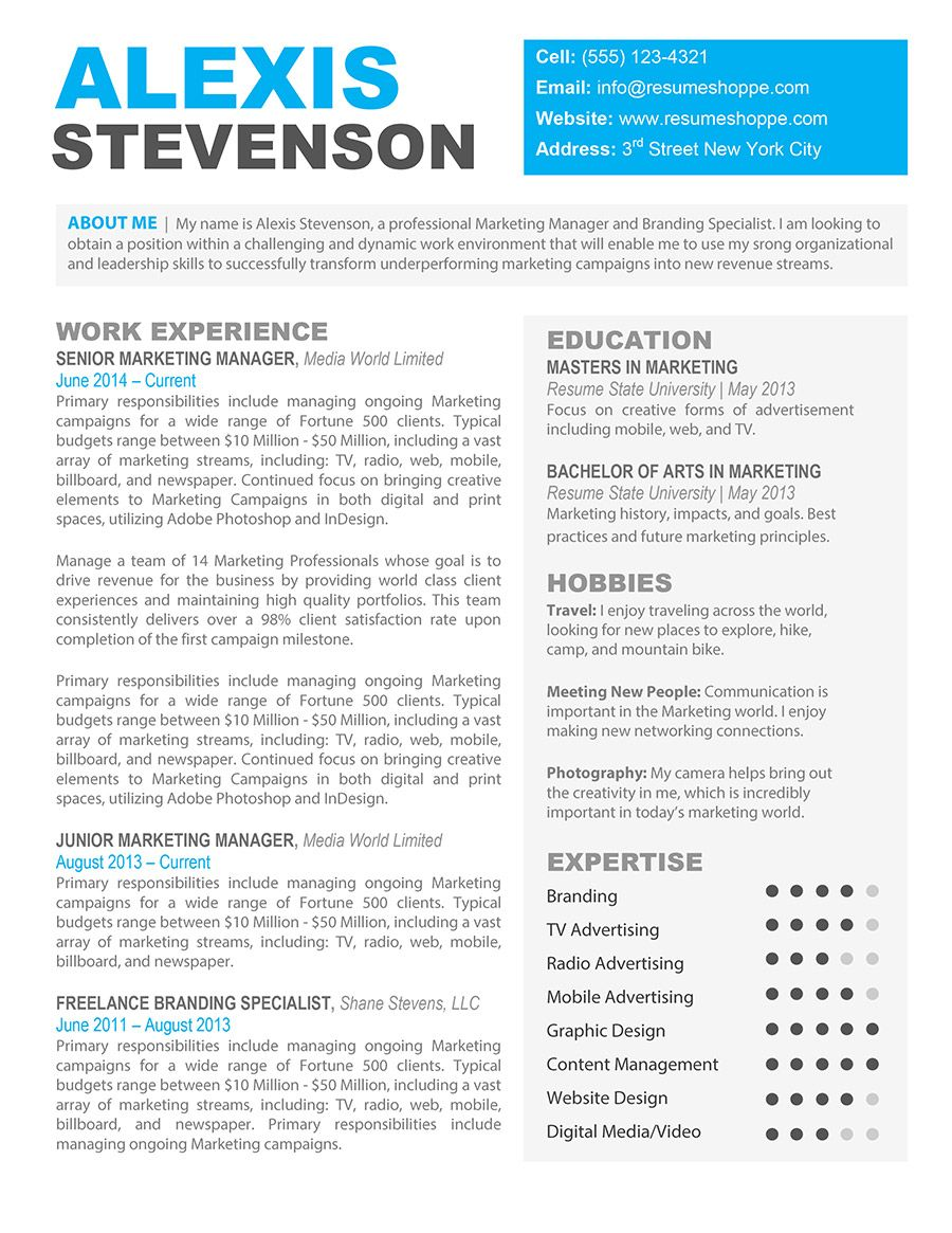 creative resume template for mac template