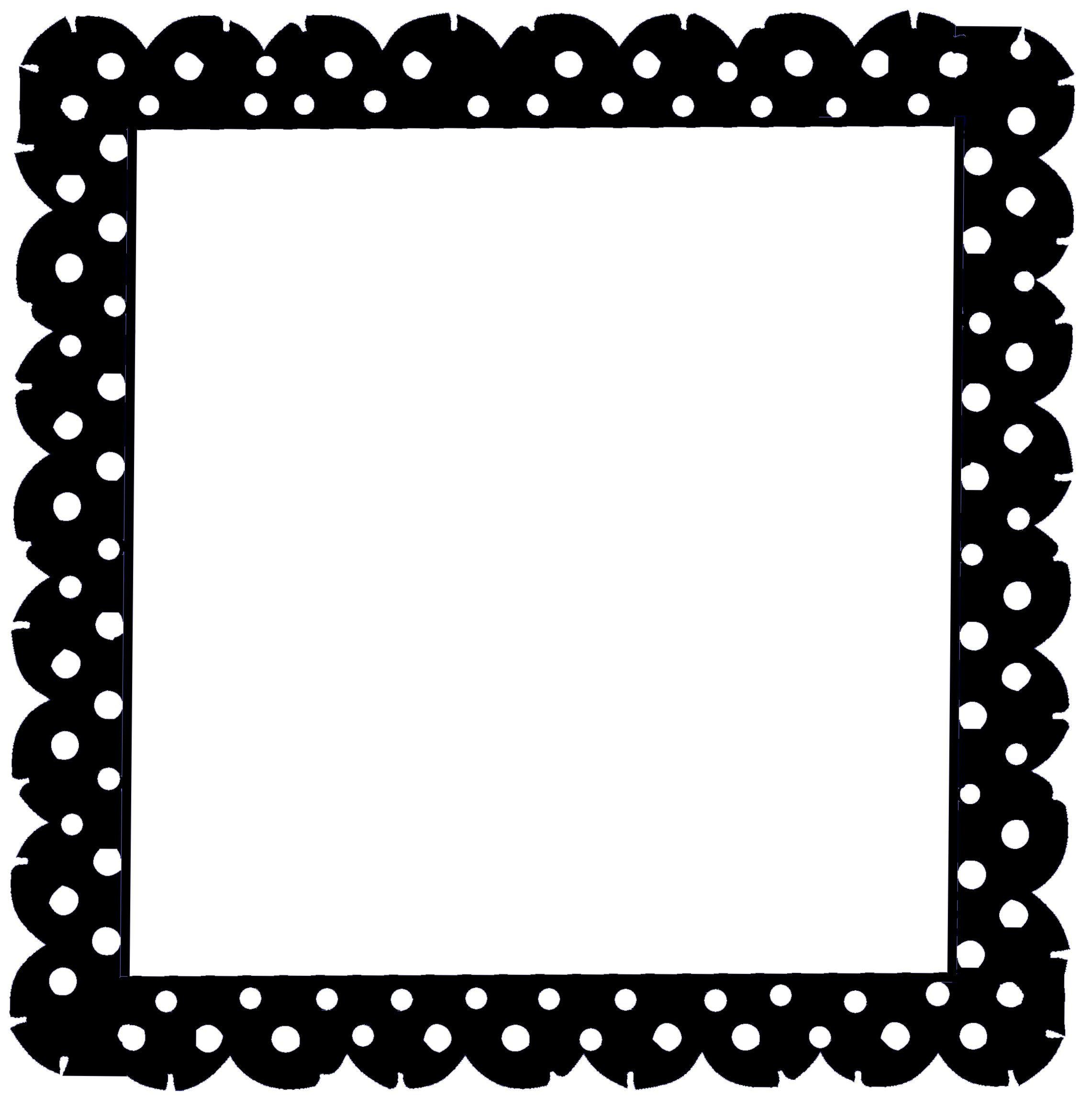 polka dot scallop free SVG! Silhouette Freebies