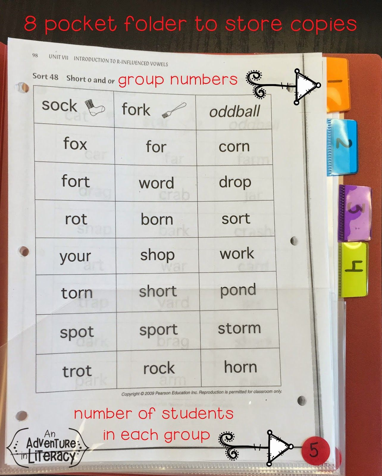 Tips For Organizing Words Their Way Materials Store Sort