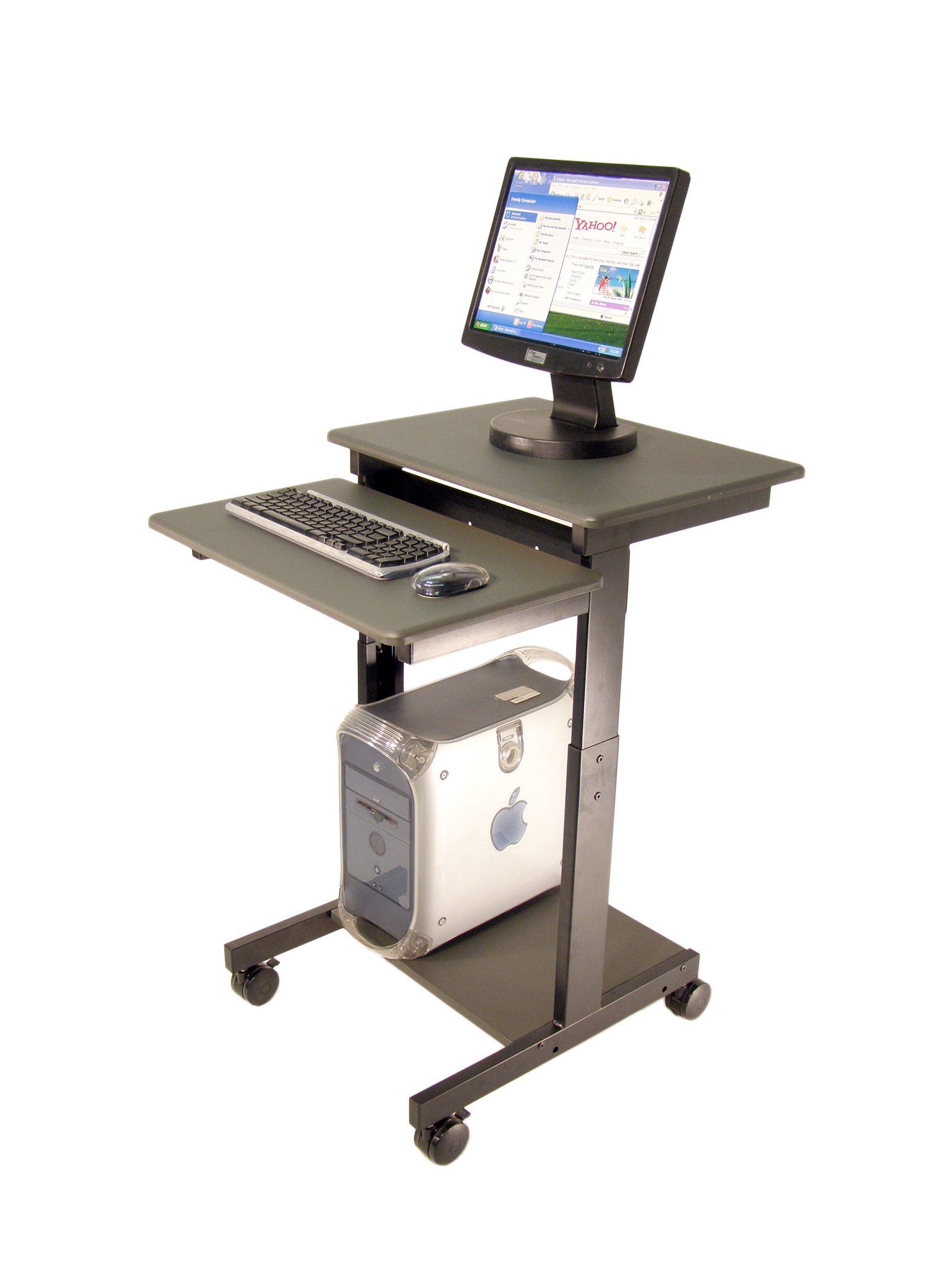 computer stand for desk on wheels Computer Desk