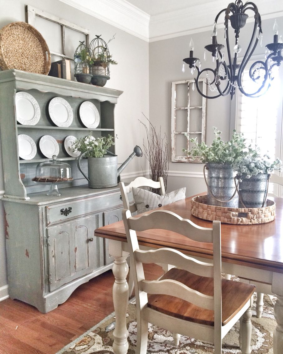 Shabby chic dining room Farmhouse style Pinterest