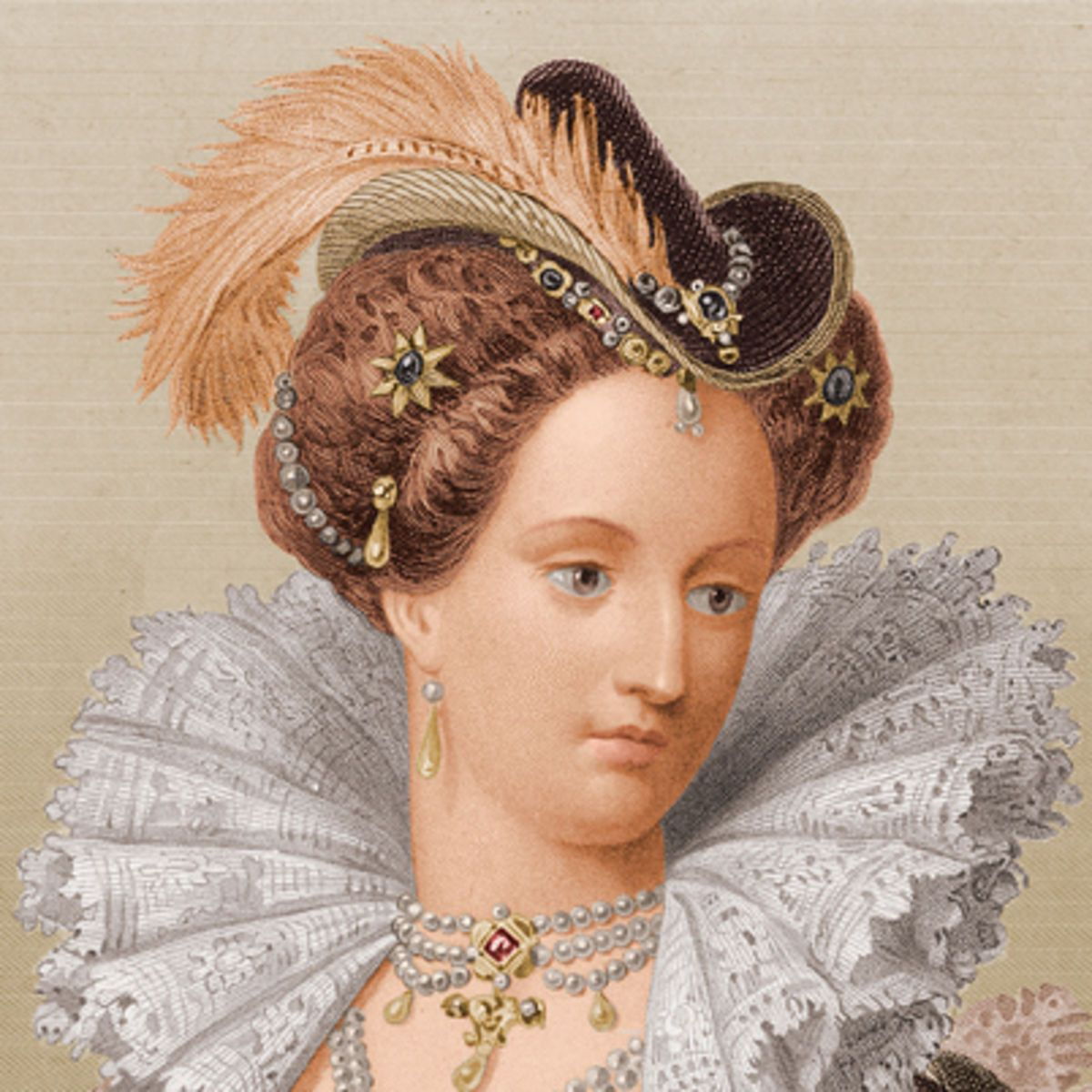 Biographical information about Queen Elizabeth I, daughter