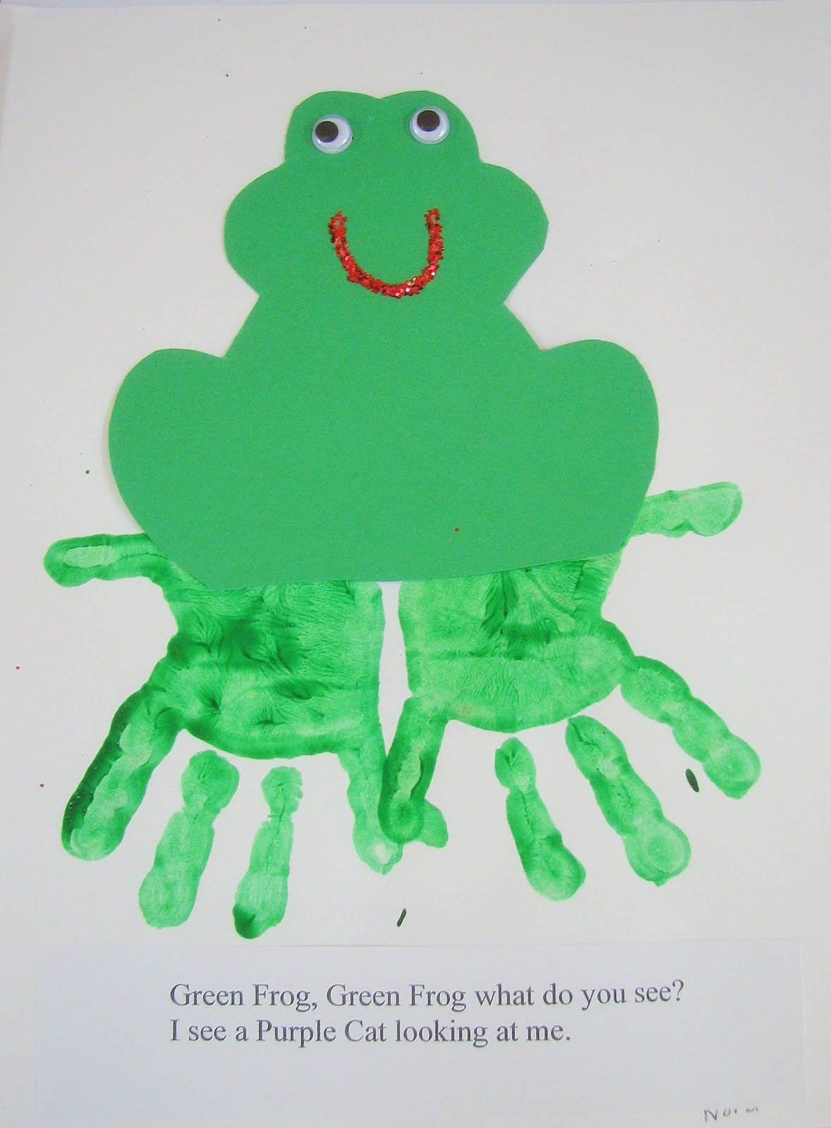 Preschool Ideas For 2 Year Olds Brown Bear Hand Print