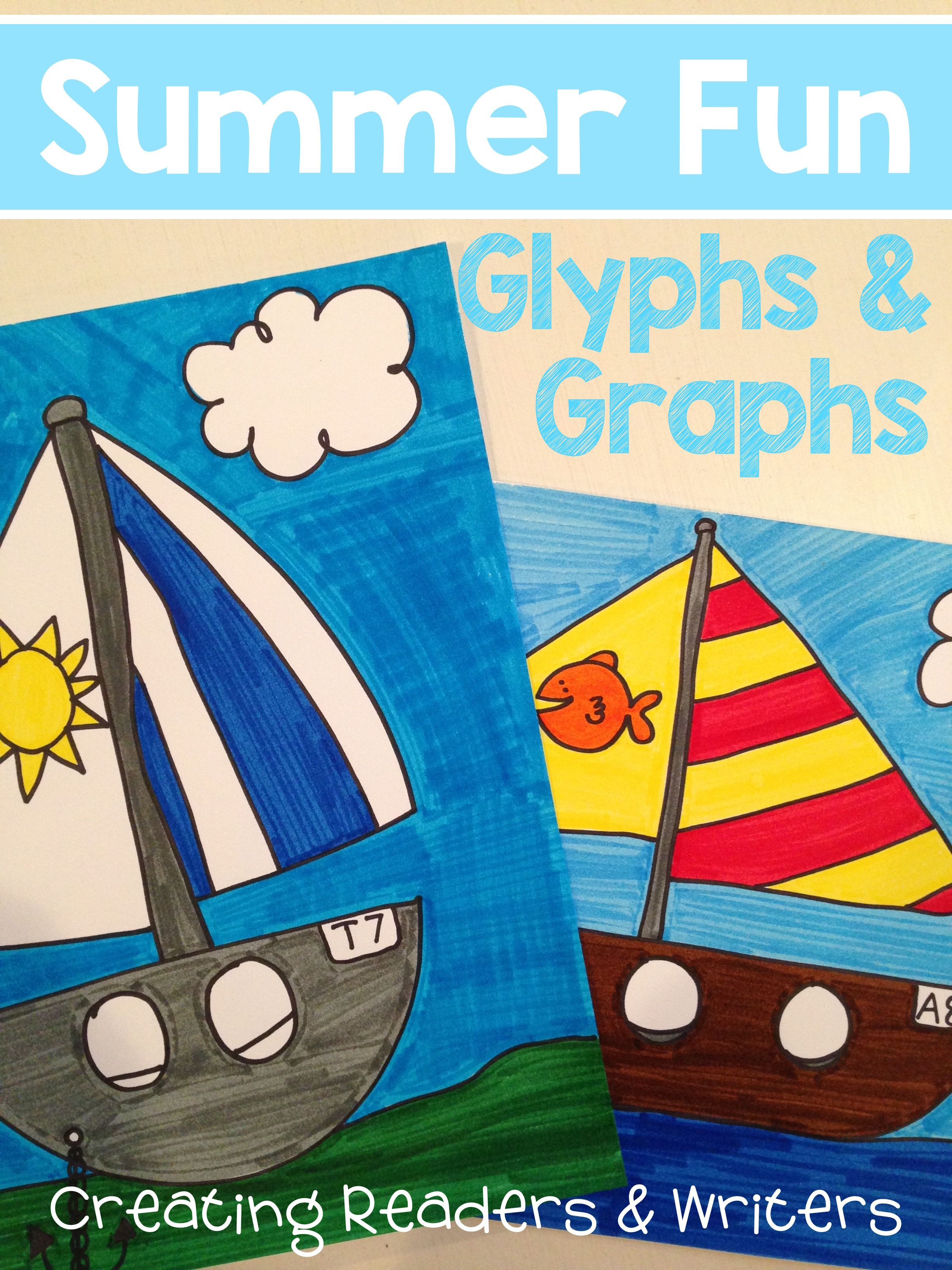 Summer Fun A Glyph Amp Graph Math Activity For The End Of