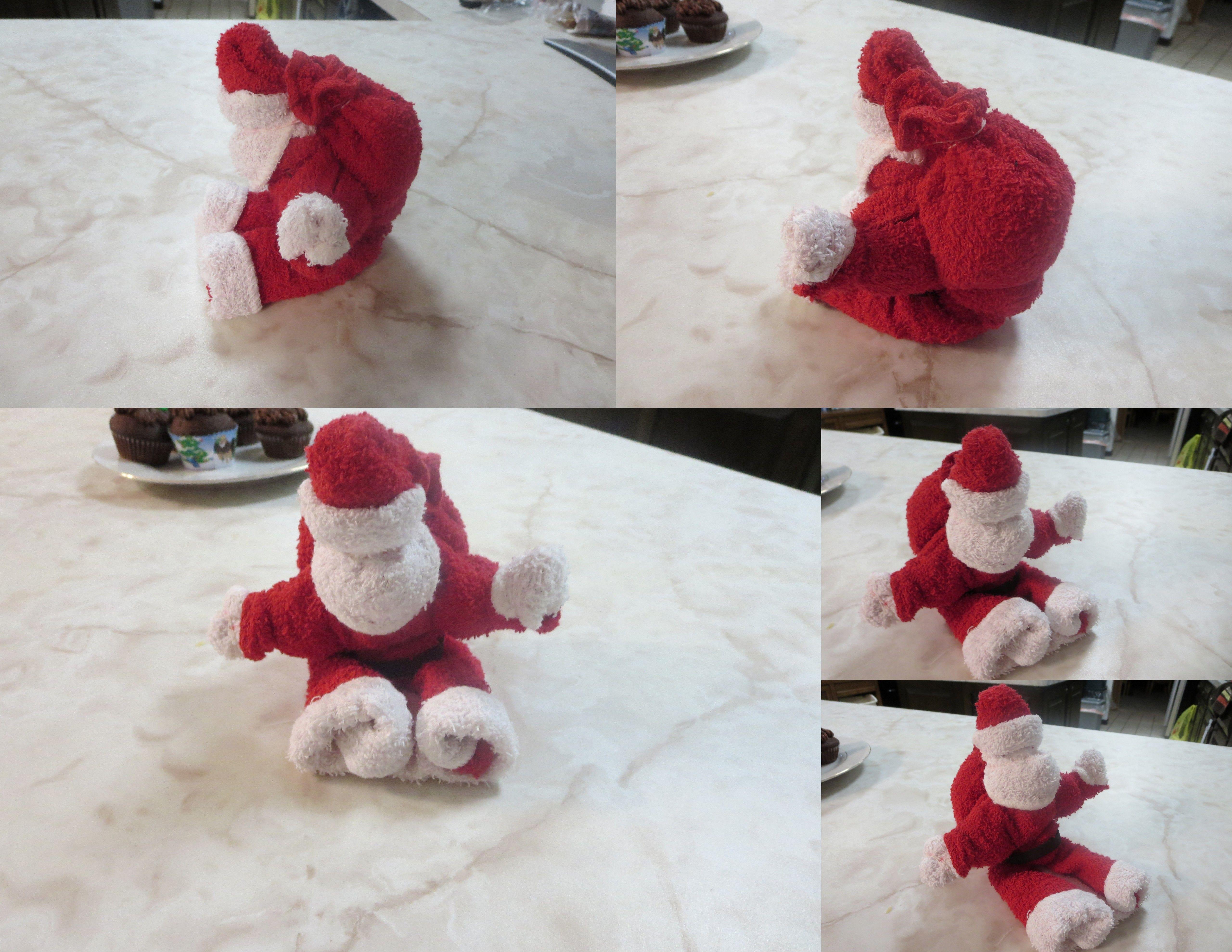 washcloth folding craft santa washcloth craft