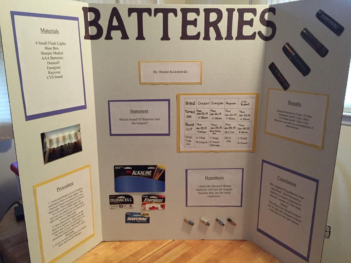 Batteries Science Fair Project Which Brand Last The Longest