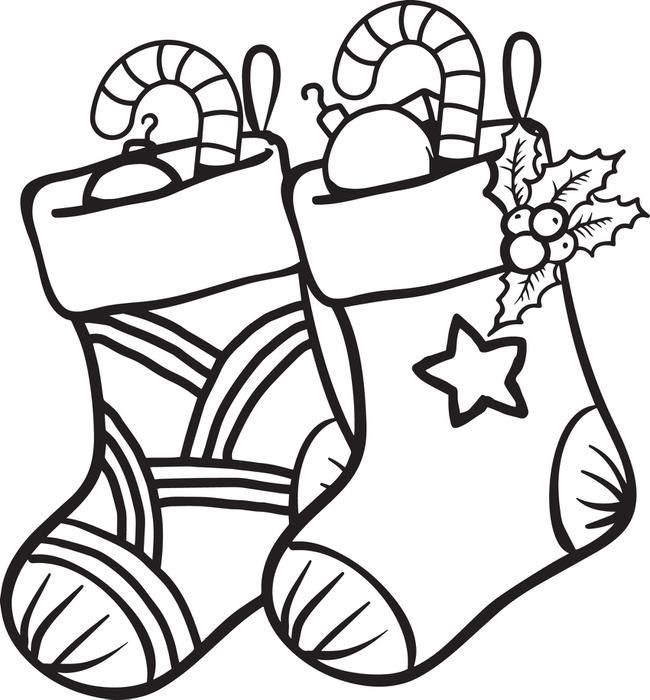 christmas stockings coloring page 6 stockings printable