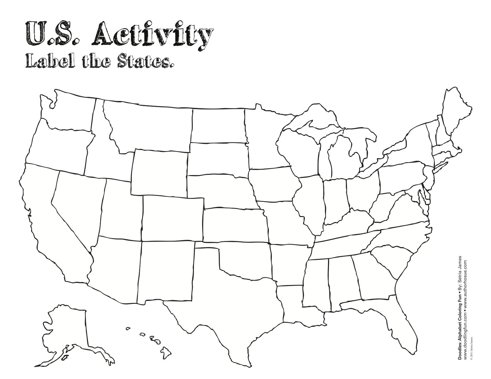 Daily Coloring Pages United States Map