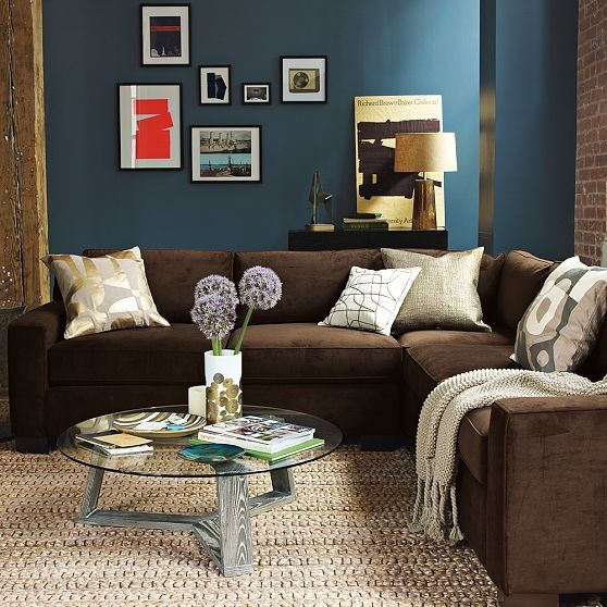Navy blue and chocolate brown living room for Navy blue and brown living room
