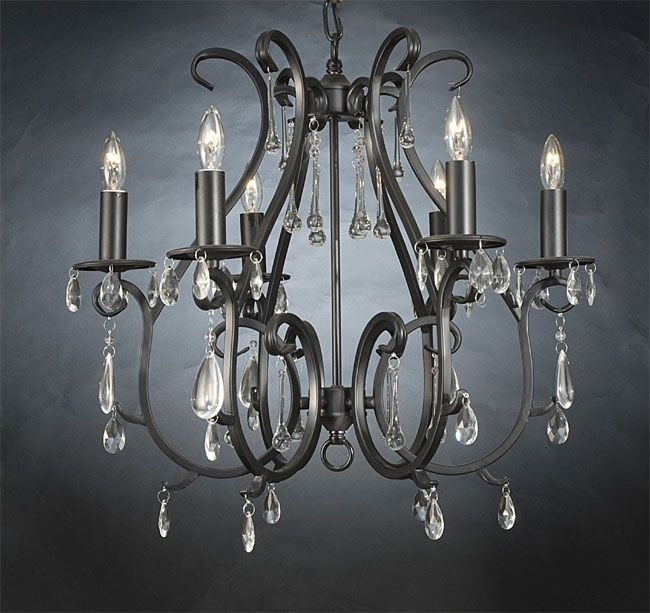 Chandelier Idea For Inside Entry Way Wrought Iron Chandeliers With Crystals