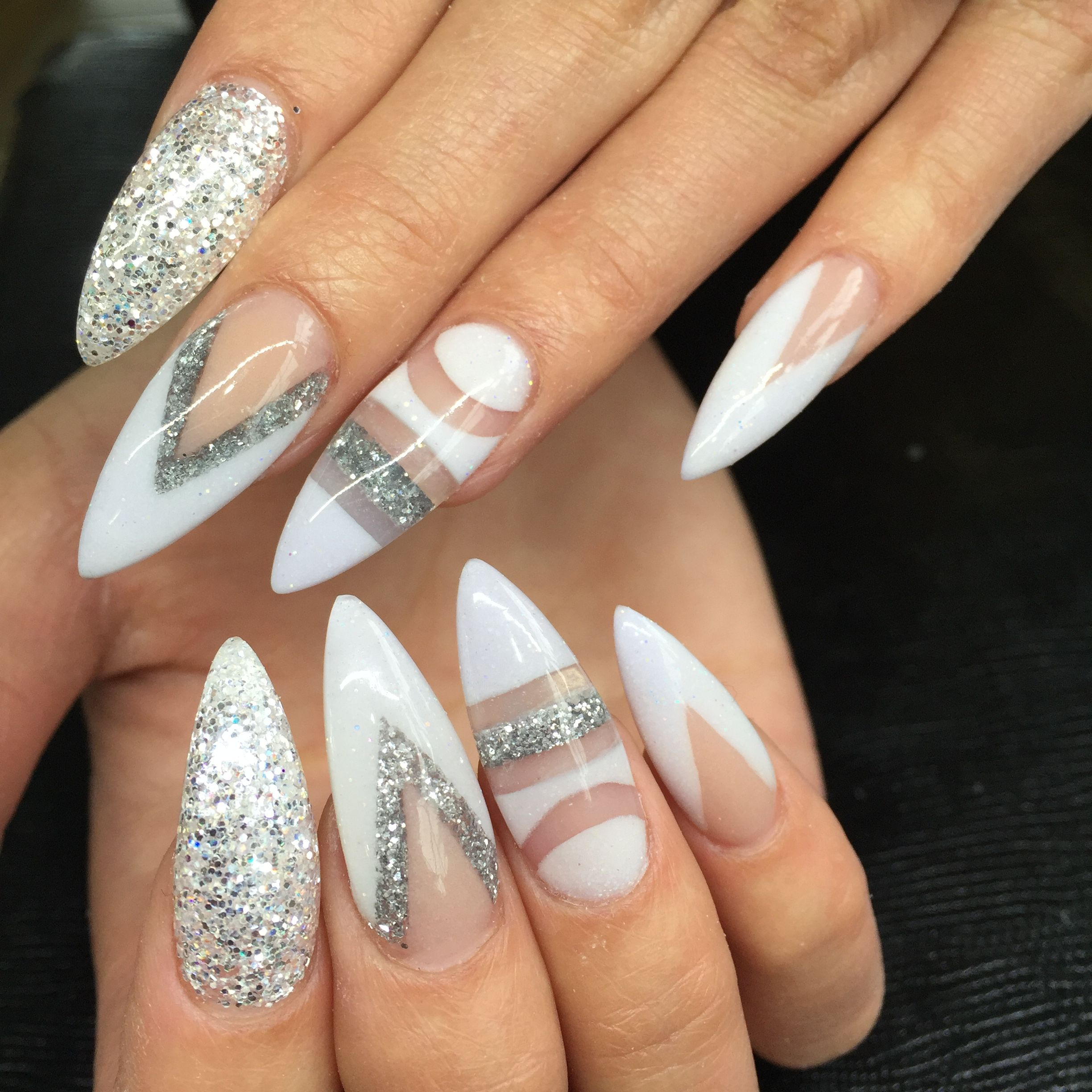 Snowy white negative space Nailpro Nail Designs
