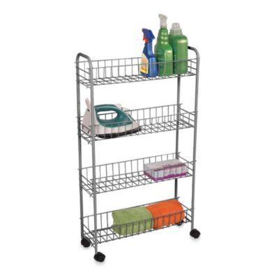 4-tier rolling cart - bedbathandbeyond /// i think this would