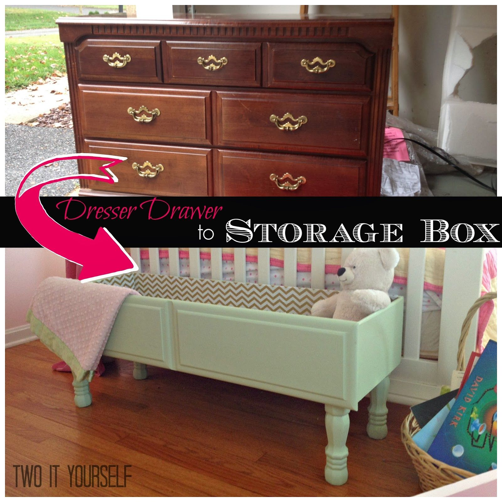 Dresser Drawer to Storage Box {Easy DIY Project