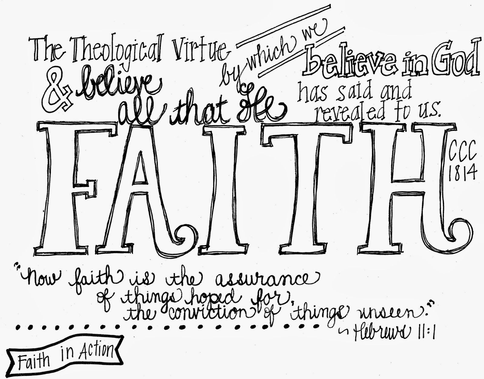 Printable Notes For The Three Theological Virtues Faith