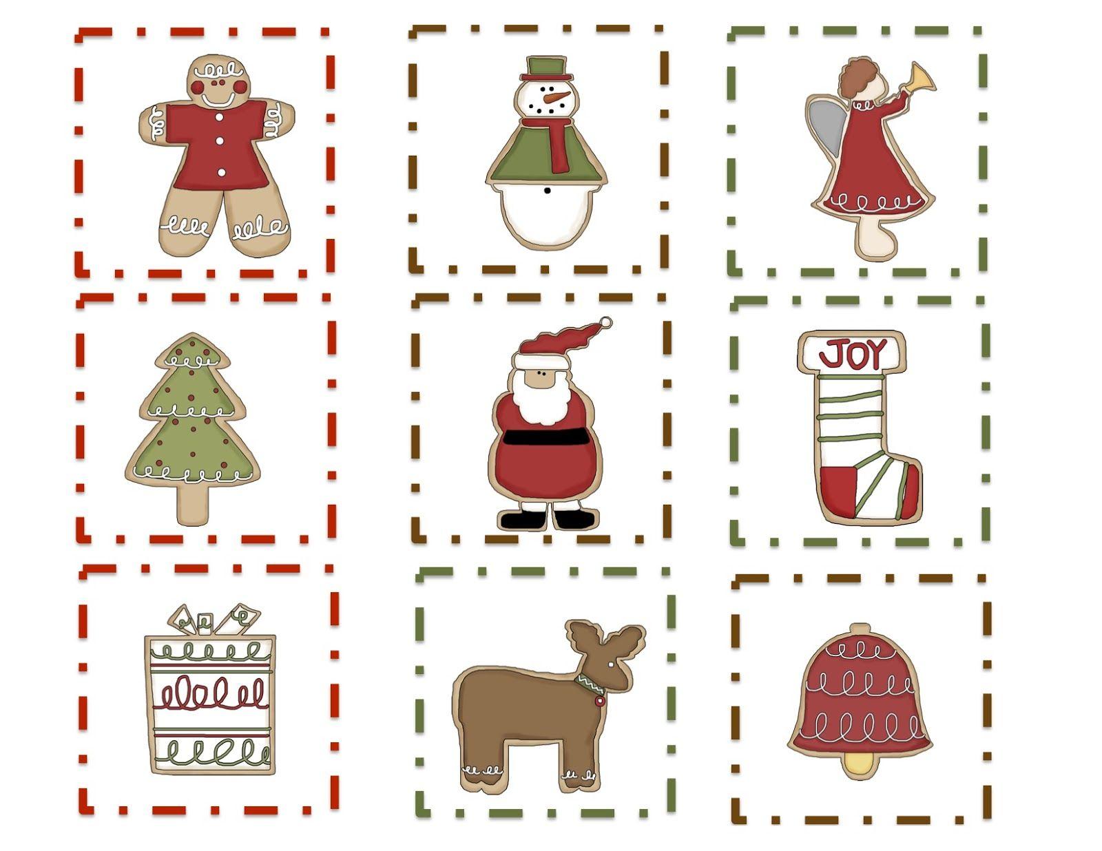 Preschool Printables Free Christmas Cookie Pattern Printable