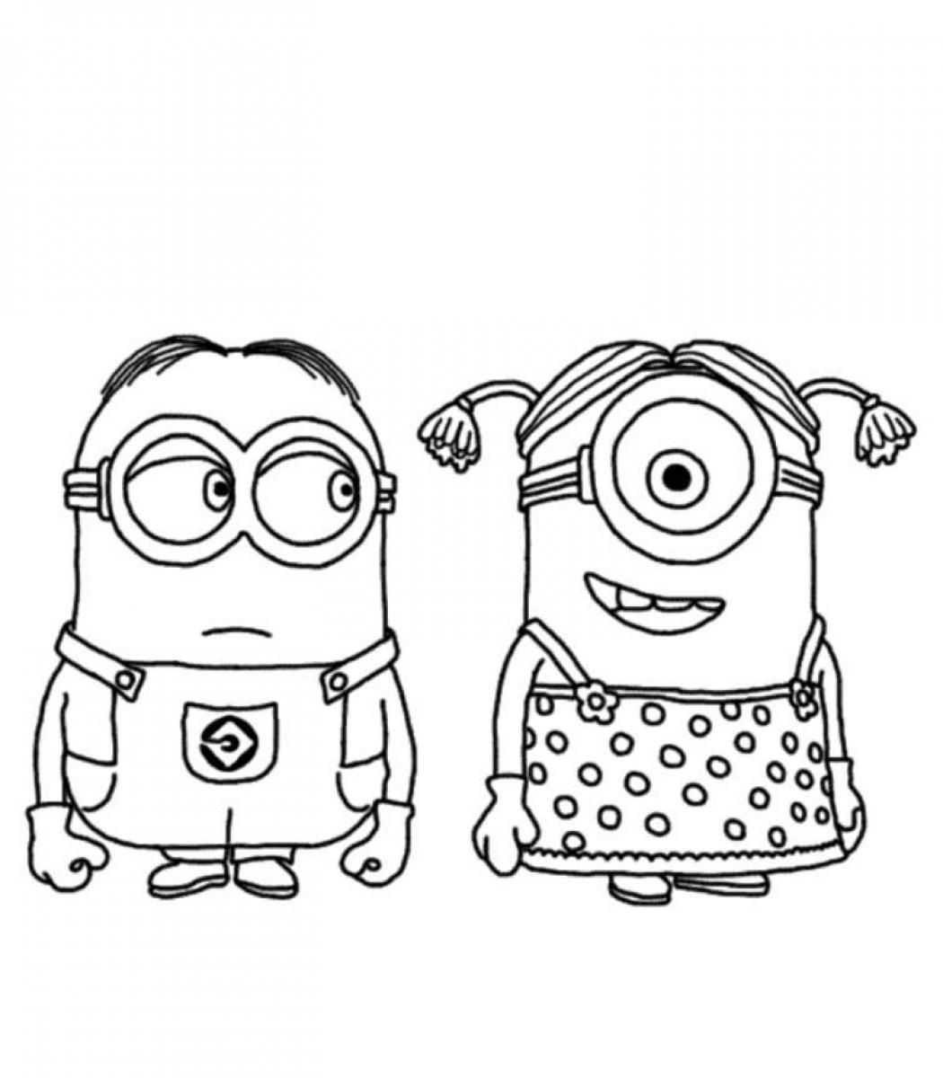 Minion Coloring Pages Printable Minion Coloring Pages