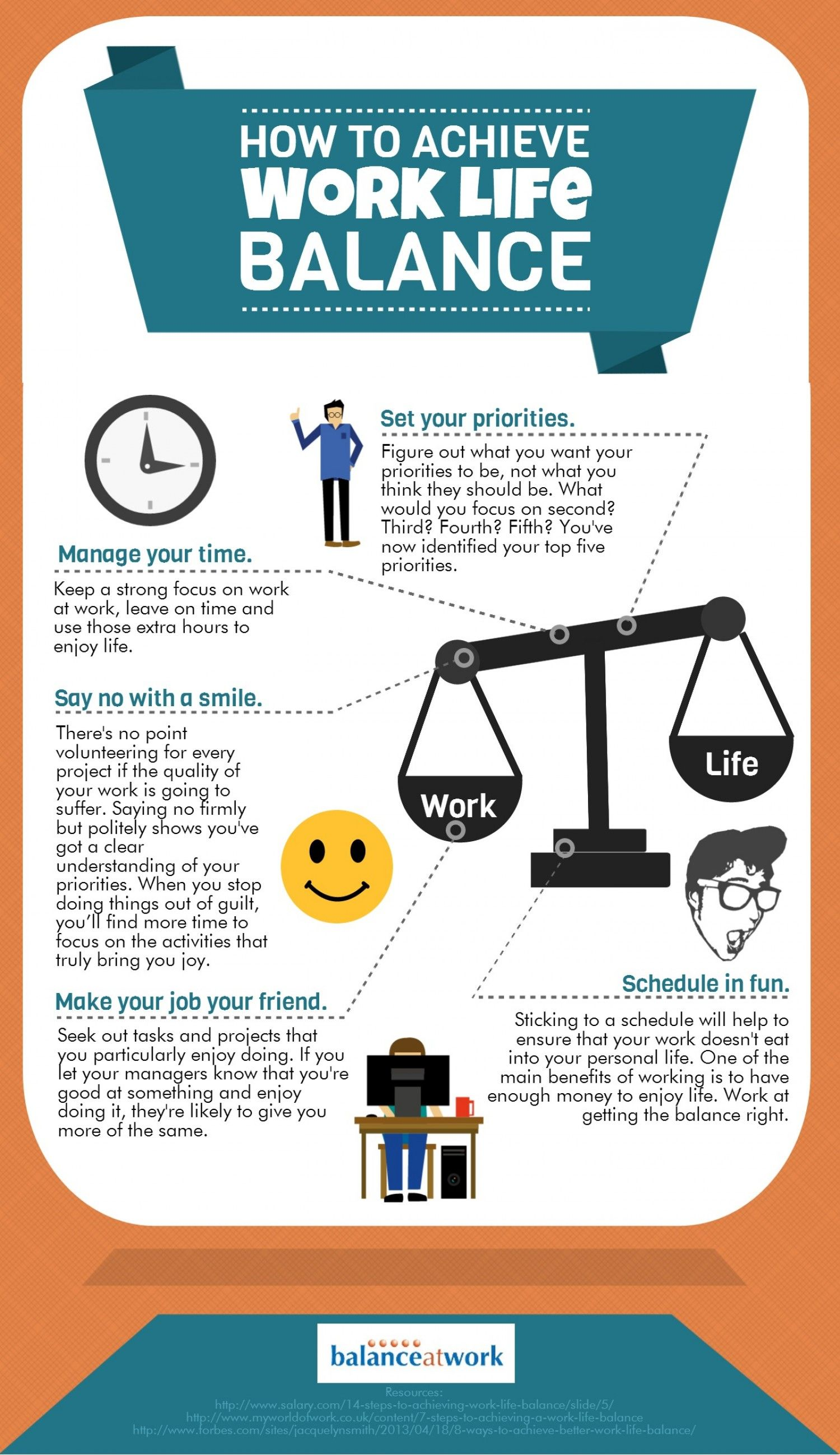 How To Get A Great Work Life Balance Infographic On