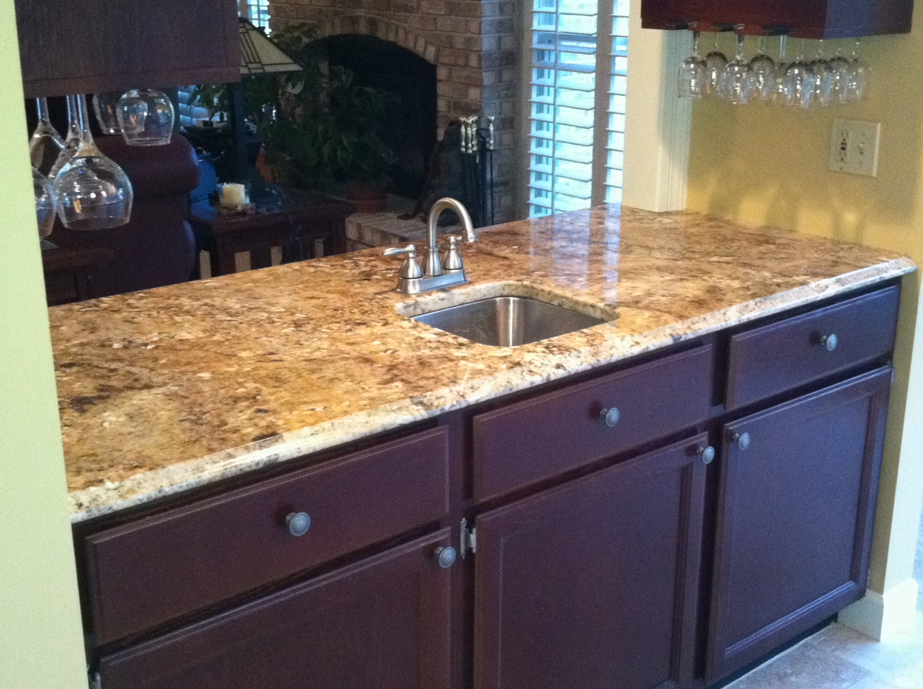 Granite Nilo River Countertops Fabricated And Installed By Stonetrends Llc Onetrendsllc
