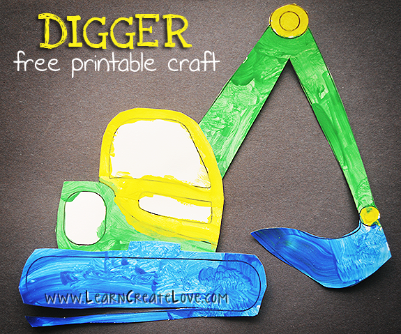Printable Digger Craft