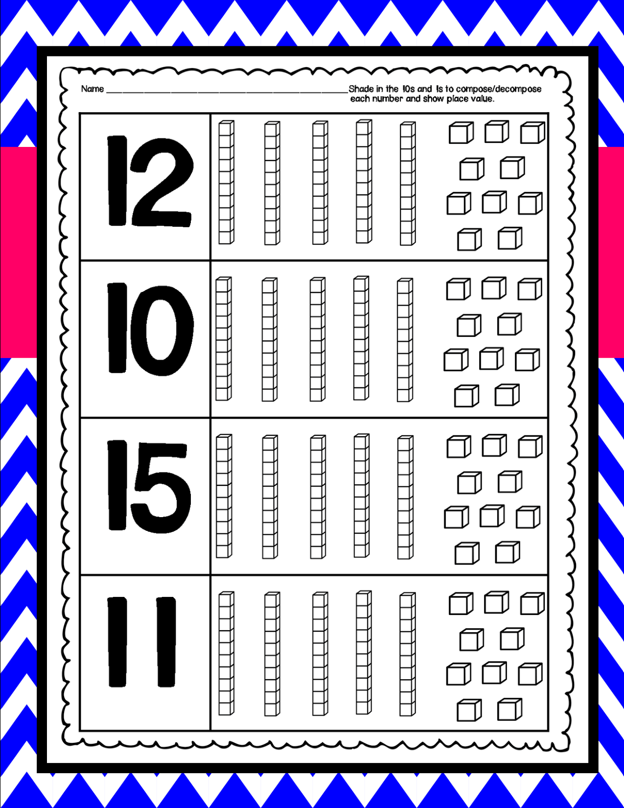 Compose Decompose Numbers And Place Value Kindergarten