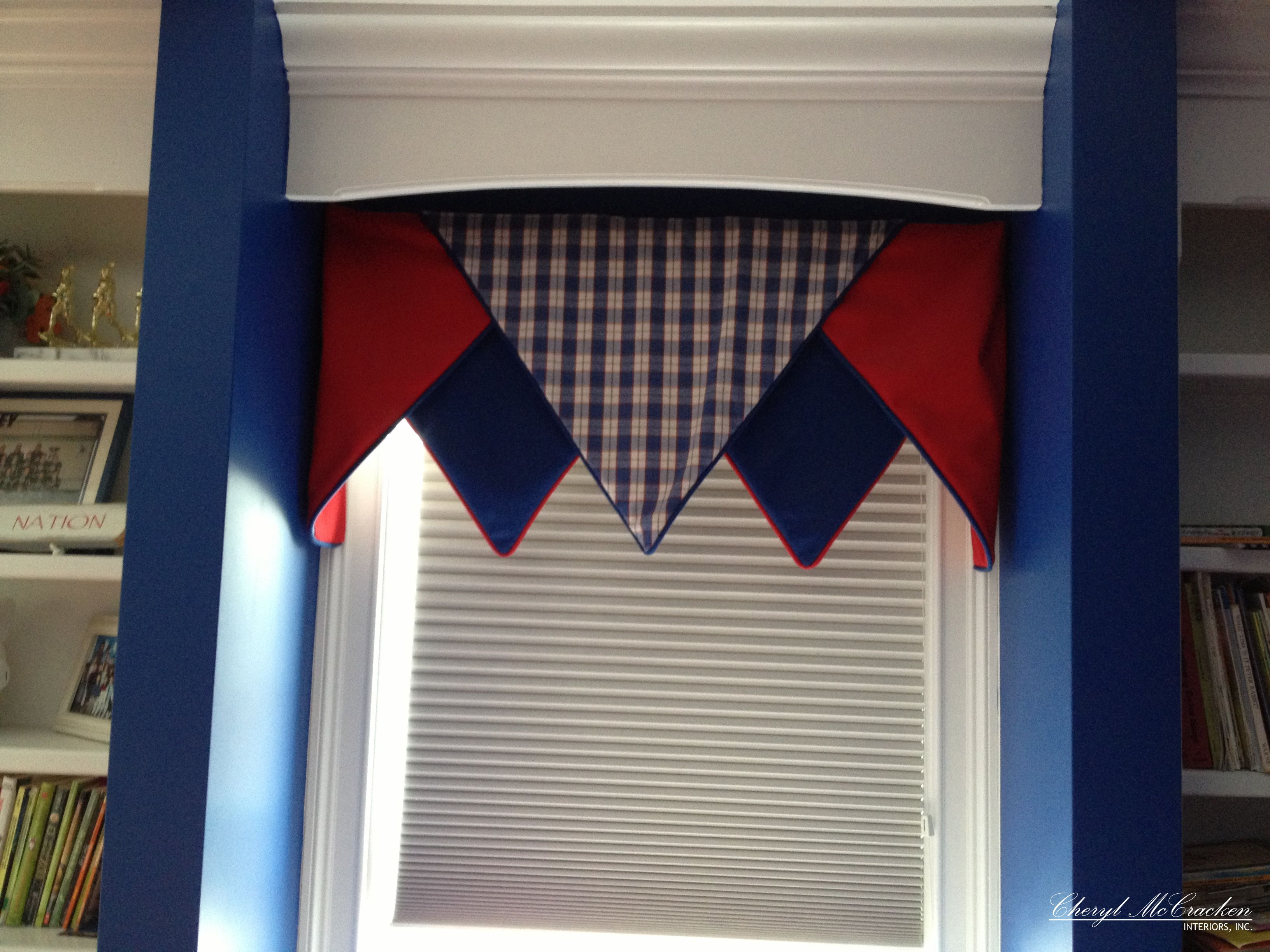 Boys Bedroom A Board Mounted Valance