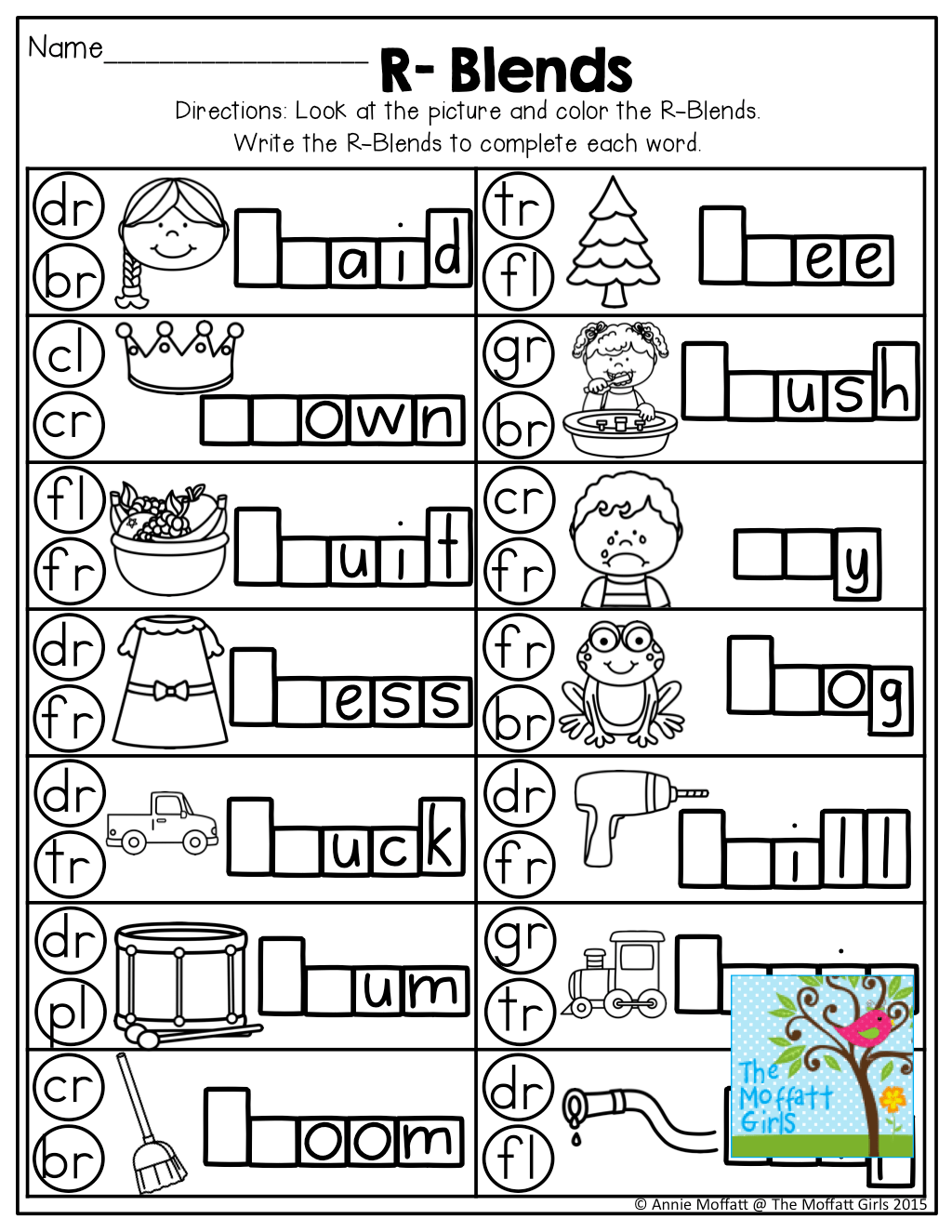 R Blends Great Introduction To Teaching Beginning Blends Just Dot The Beginning Sound And