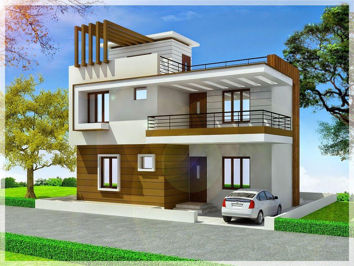 Duplex House Exterior Design Pictures In India - Front Design