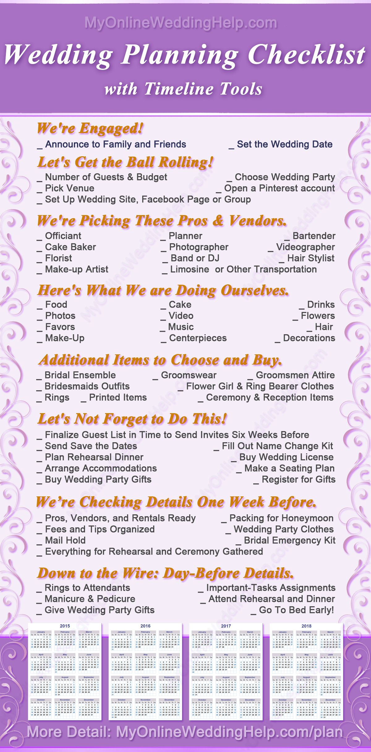 DIY Wedding Planning Checklist (and PDF Timeline