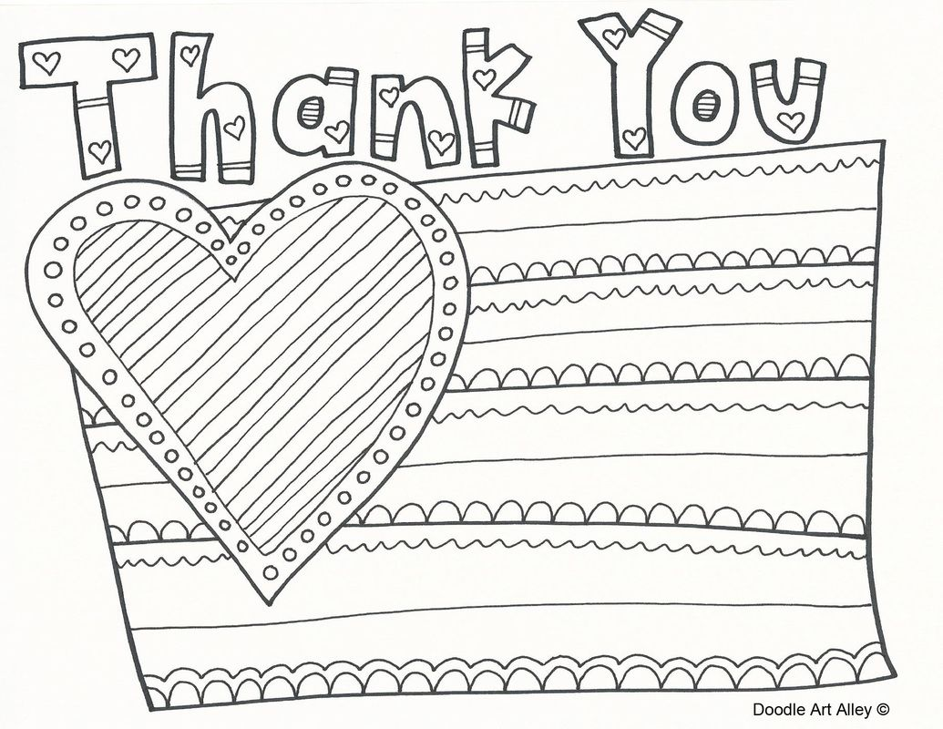 Veterans Day Thank You Printable Coloring Pages