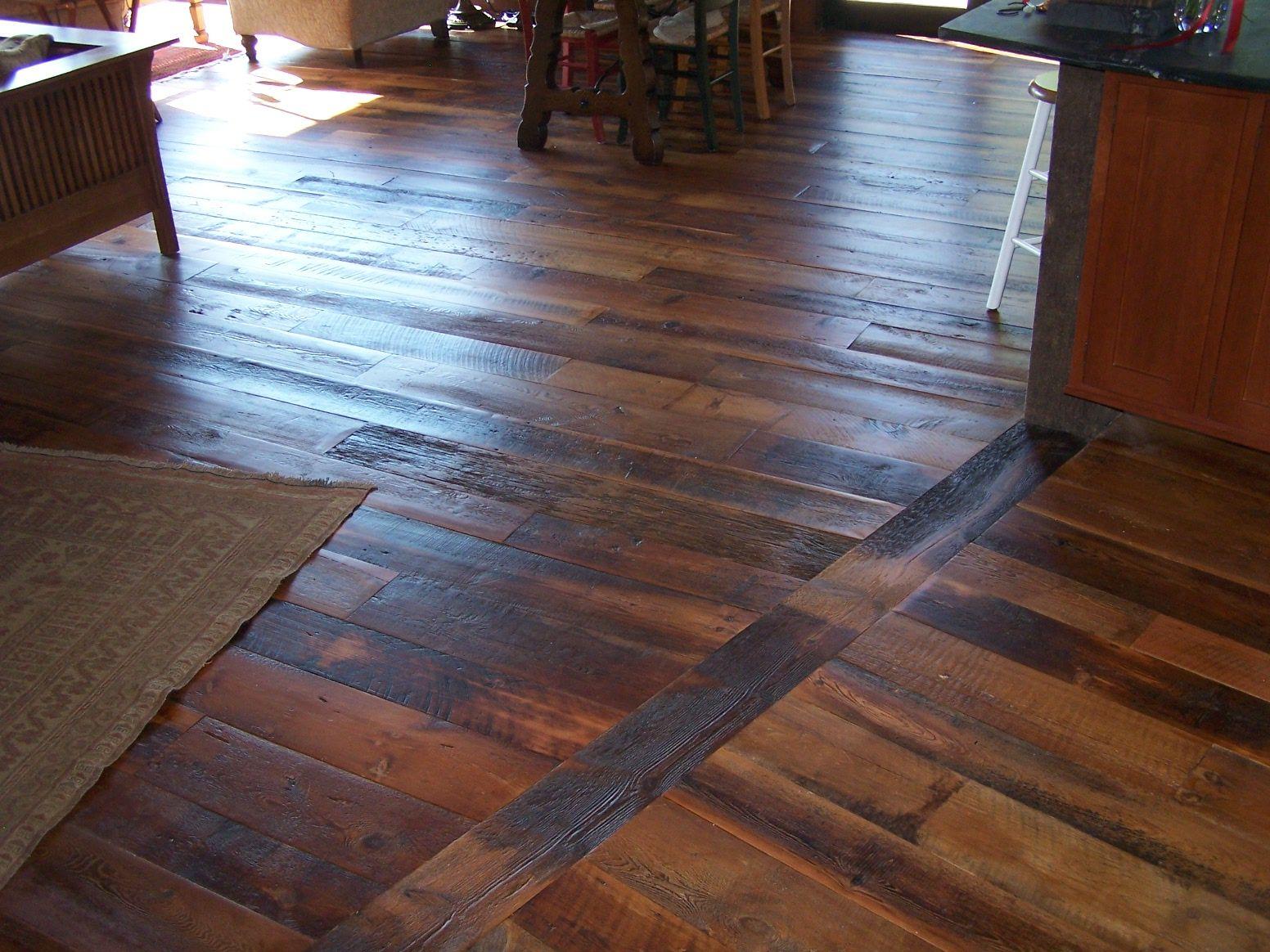 Rustic Wide Plank Hemlock Flooring Reclaimed Wood