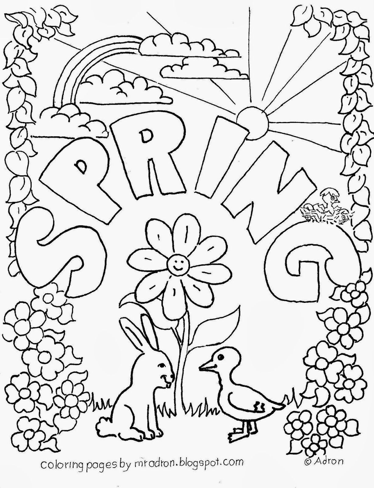 1000 images about coloring sheets on pinterest spring coloring