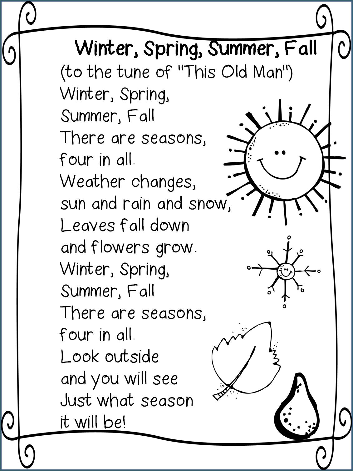 Best 25 Seasons Poem Ideas
