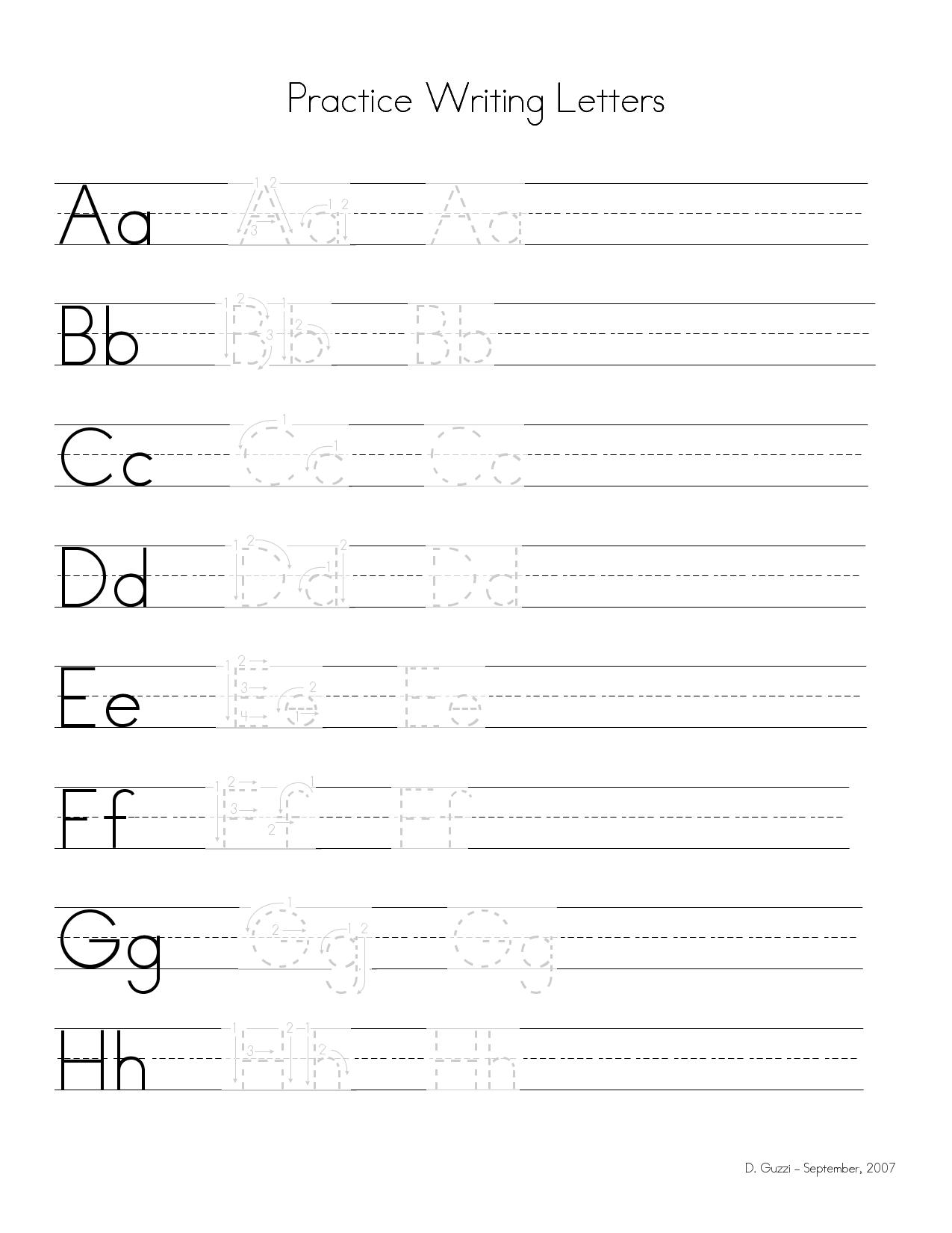 Practice Writing Letters Wpjki81r