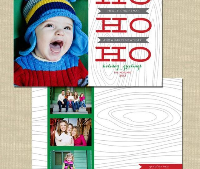 Christmas Photoshop Card Template For Photographers Or People Who Want To Make Their Own Diy Christmas