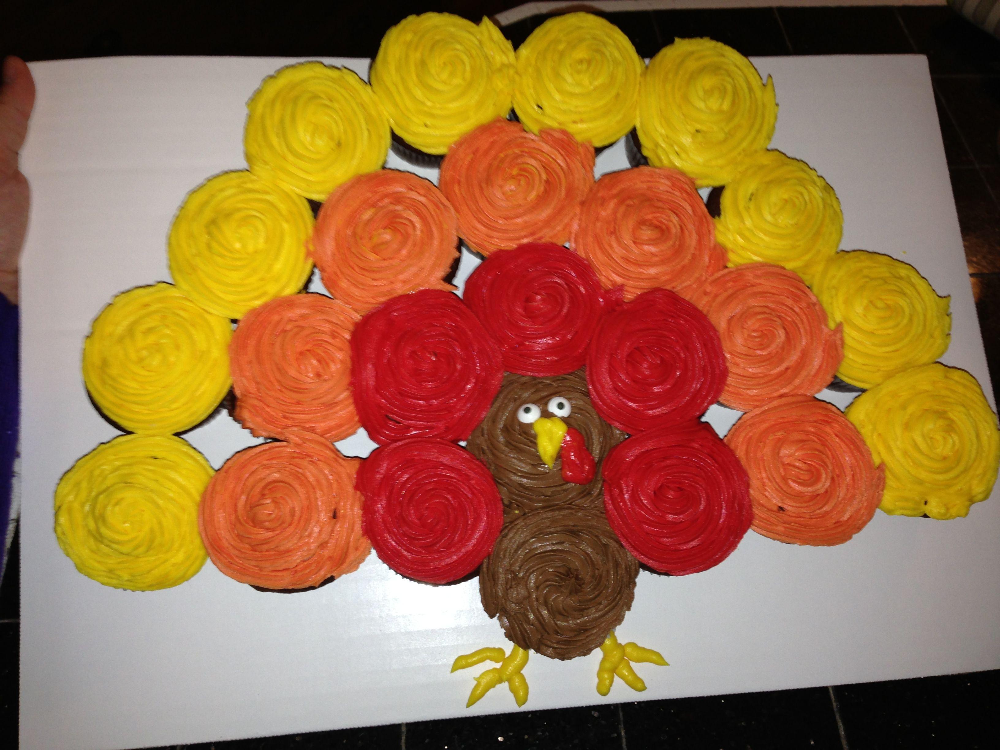 Easy Turkey Cupcake Cake