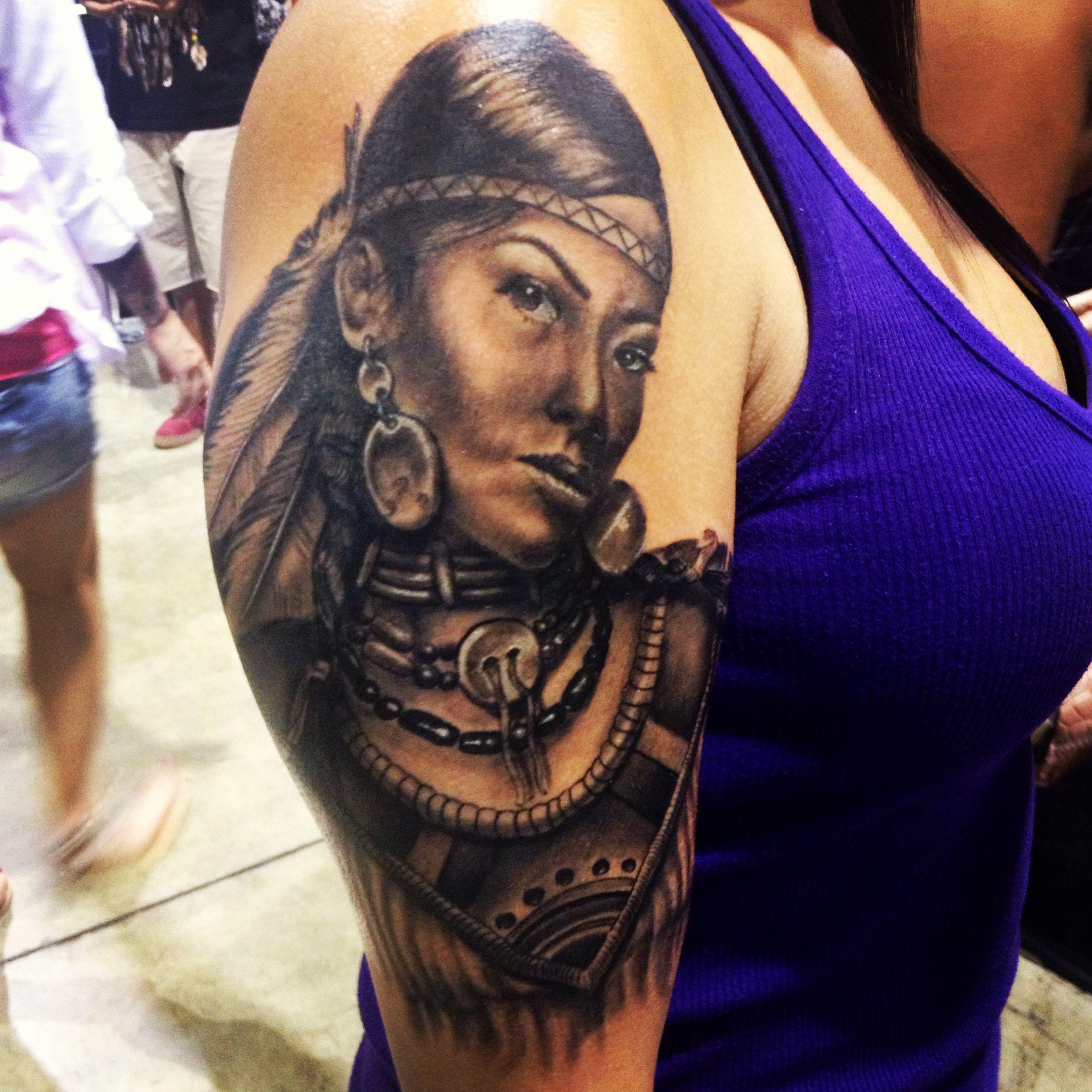 Native American woman tattoo Human Canvas Pinterest