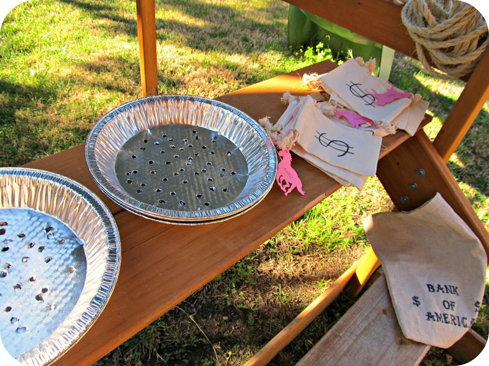 Cowgirl party activity gold mining! paint small rocks