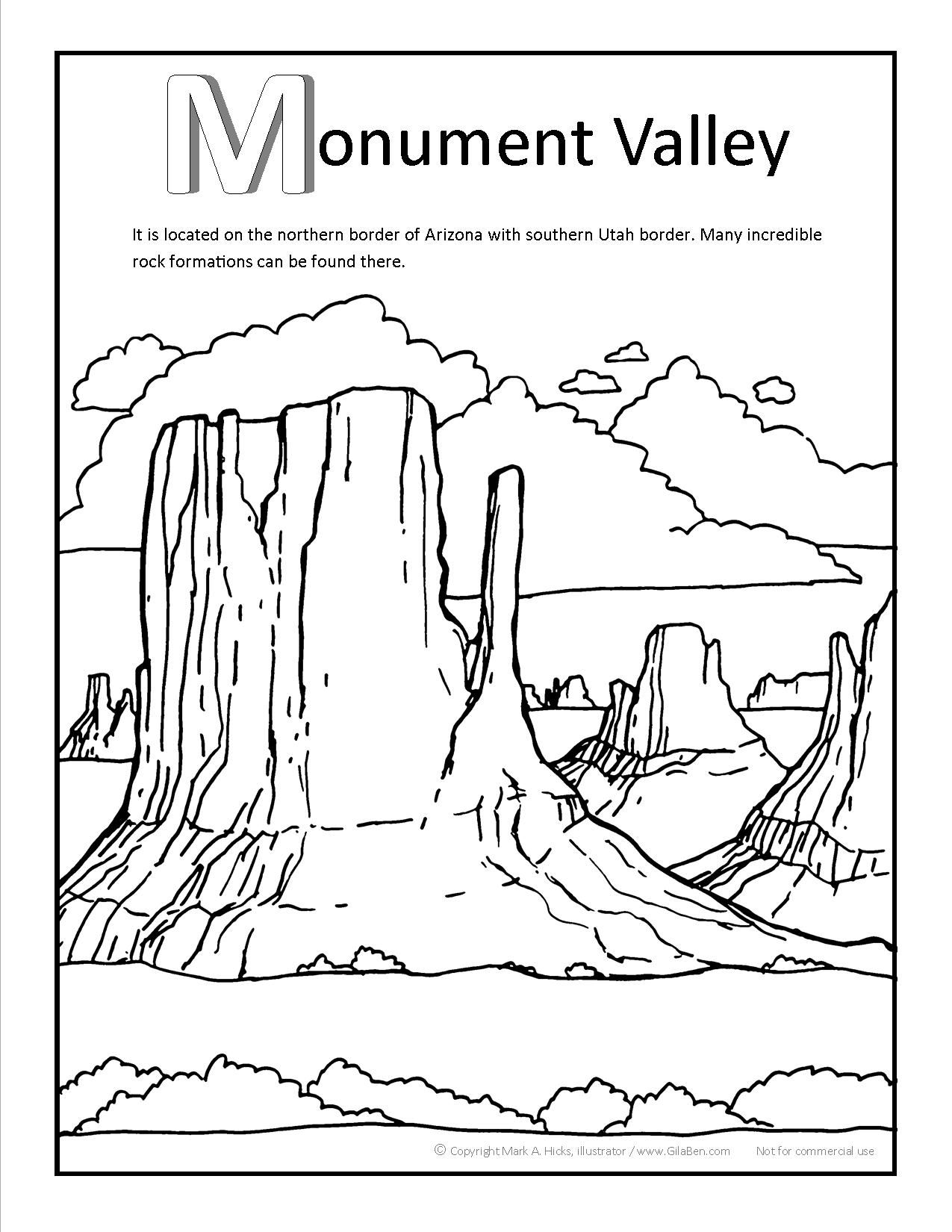 Monument Valley Coloring Page