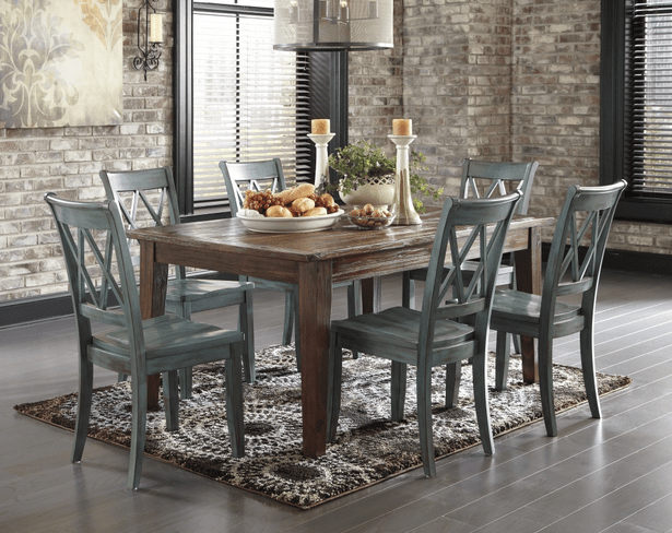 Rustic Dining Room Table Rustic (5pc Table And Side